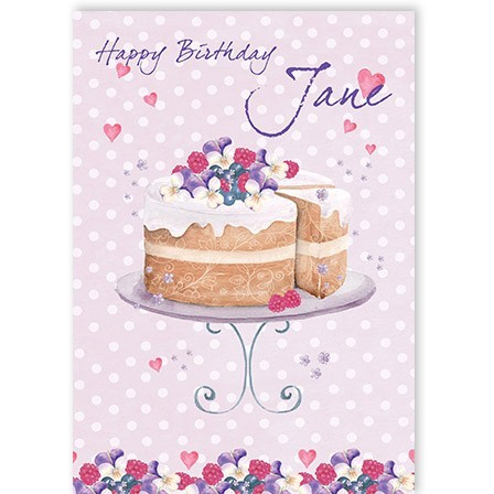 Cake Birthday Greeting Card Personalised A5nigdm343caced