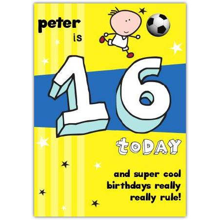 16th Birthday Greeting Card Personalised A5blm2017003507