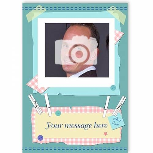 Insert Message Blue Photo Card