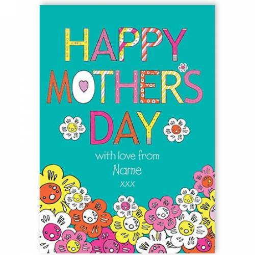 Happy Mother's Day Flowers Card