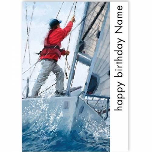 Happy Birthday Sailing Card