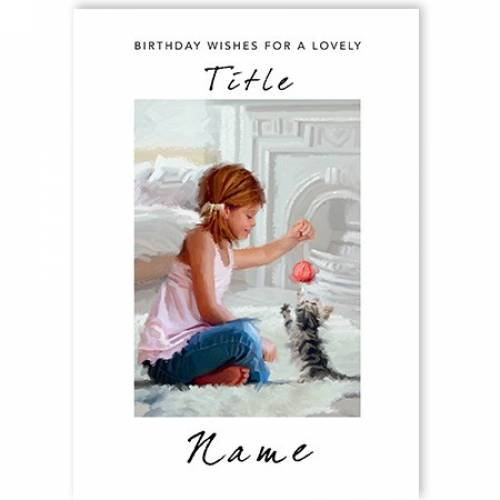 Birthday Wishes For Girl Card