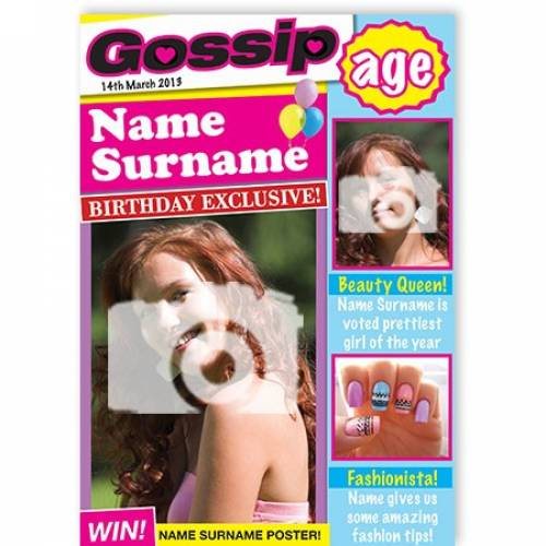 Gossip Birthday Magazine Card