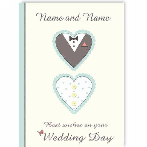 Best Wishes On Your Wedding Day Card