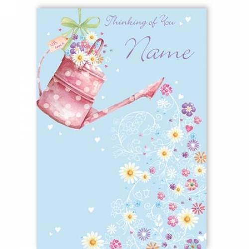 Thinking Of You Flowers Card