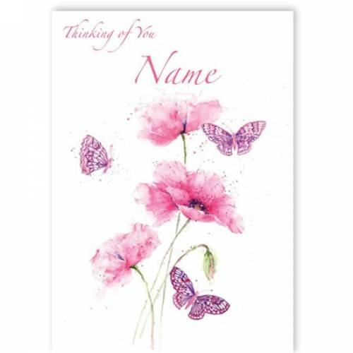 Thinking Of You Butterflies Card