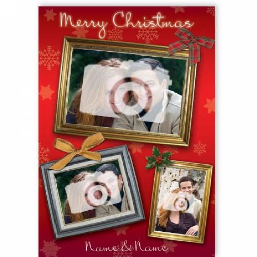 Merry Christmas 3-photo Frame Card
