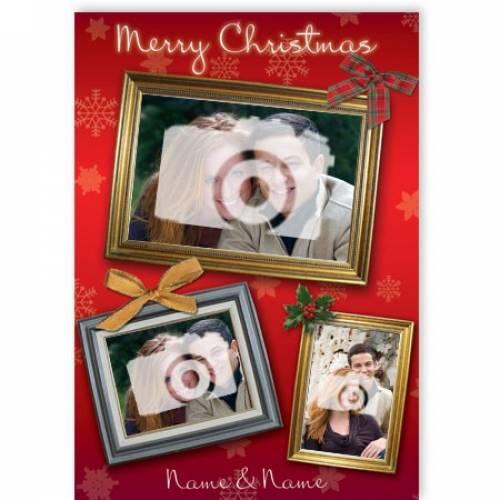 Merry Christmas 3-photo Frame Card