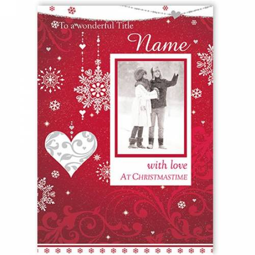 To My Wonderful With Love At Christmas Card
