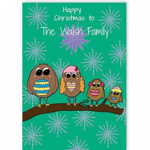 Happy Christmas Family Christmas Card