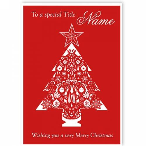 To A Special - Christmas Tree Christmas Card