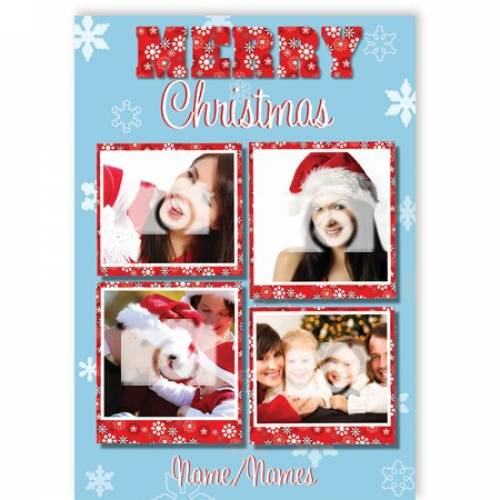 Merry Christmas 4-photo Christmas Card