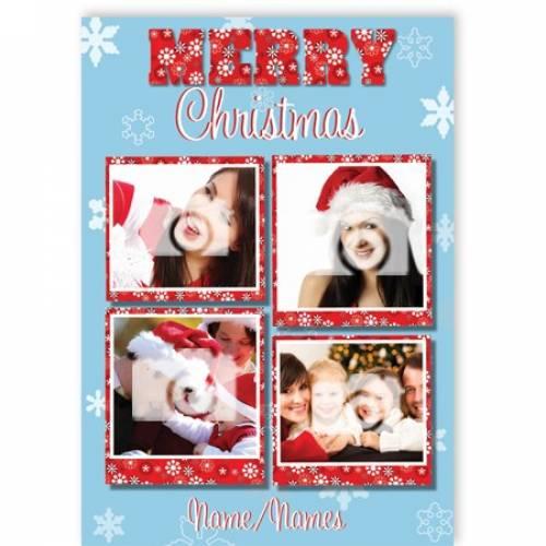 Merry Christmas 4-photo Christmas Card