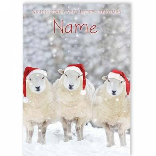 Wishing Ewe A Very Happy Christmas Card