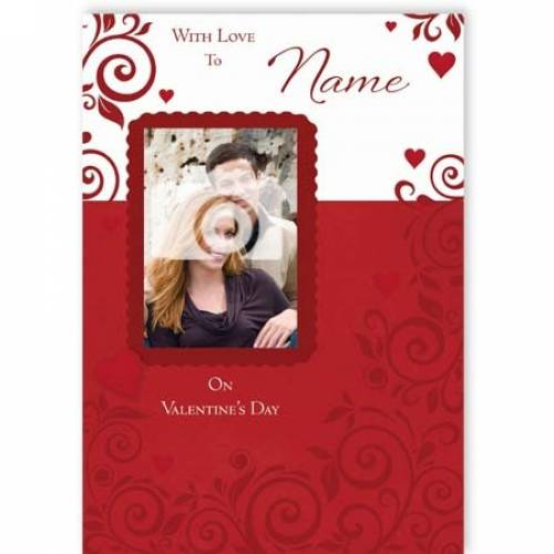 With Love On Valentine's Day Card