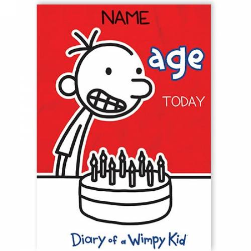 Diary Of A Wimpy Kid Birthday Card