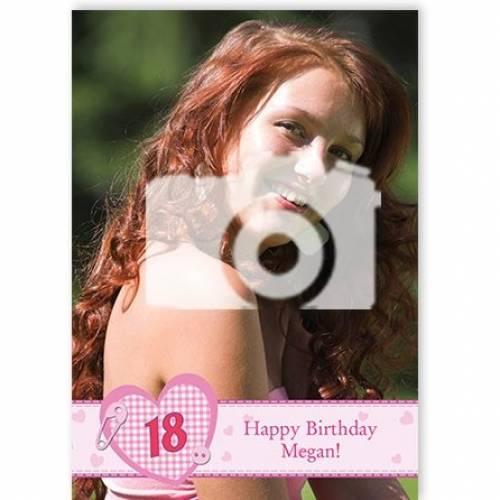 Insert Age - Happy Birthday Photo Birthday Card