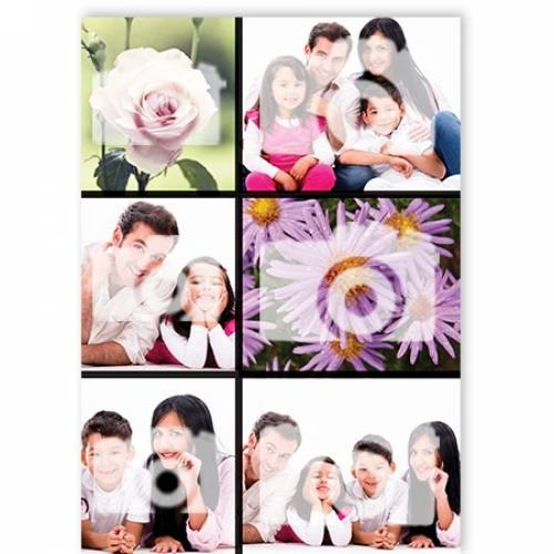 6-Photo Upload Any Occasion Greeting Card