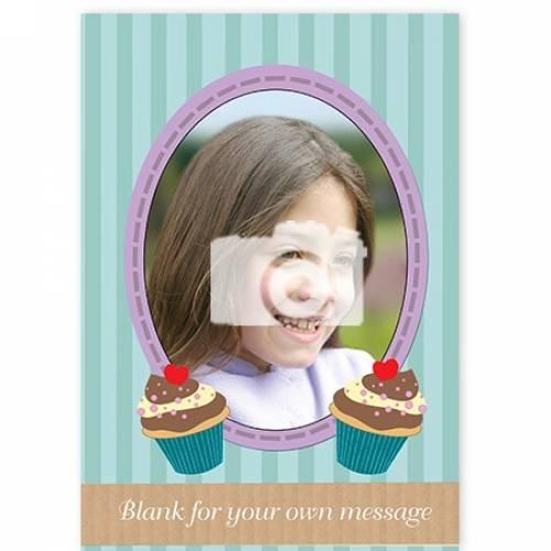 Insert Message Cupcake Photo Card