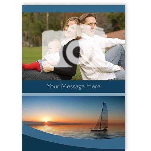 Insert Message Any Occasion 2-photo Card