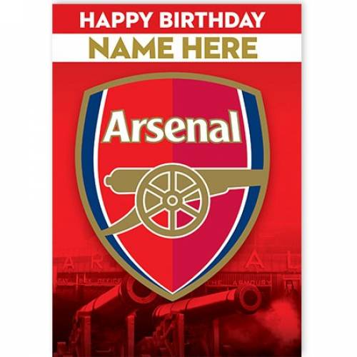 Arsenal Happy Birthday Card