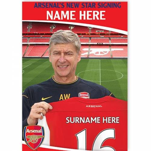 Arsenal's New Star Signing Card