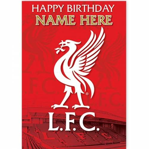 Liverpool LFC Happy Birthday Card