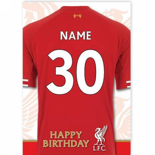 Liverpool Any Age Jersey Birthday Card