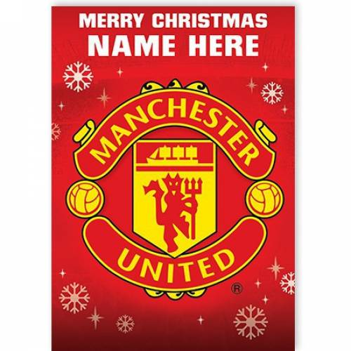 Manchester United Merry Christmas Card
