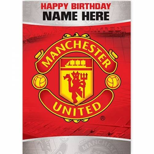 Manchester United Happy Birthday Card