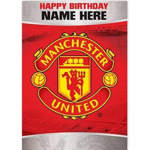 Manchester United Happy Birthday Card