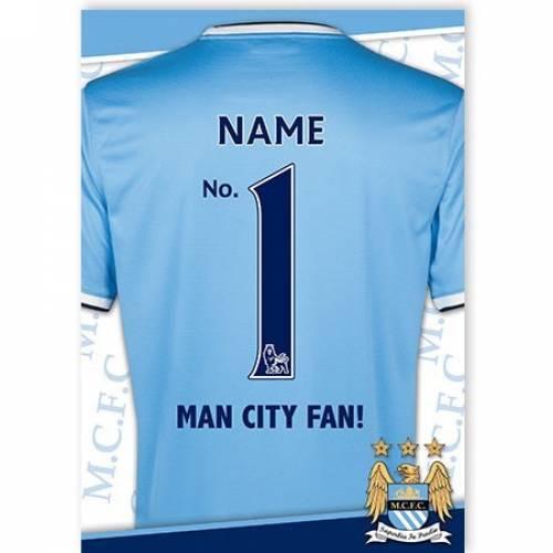 Manchester City No. 1 Fan Card