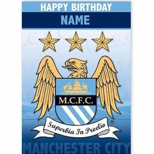 Manchester City Happy Birthday Card