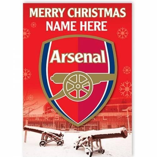 Arsenal Merry Christmas Card