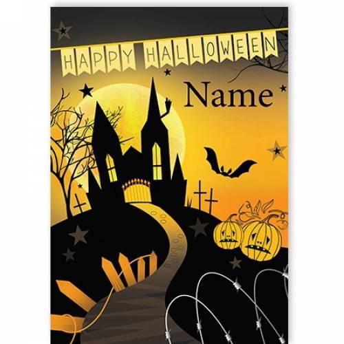 Happy Halloween Scary Halloween Card