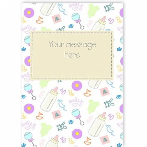 Insert Message Neutral Baby Card