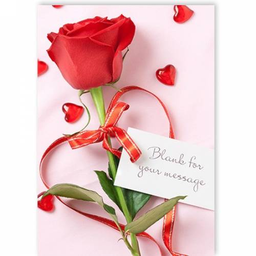 Insert Any Message Red Rose Card