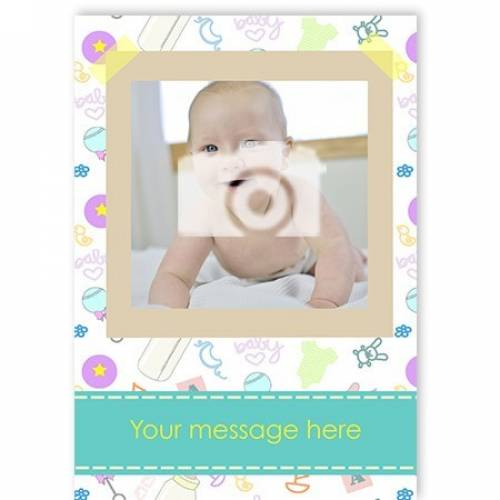 New Baby 1-photo Baby Card