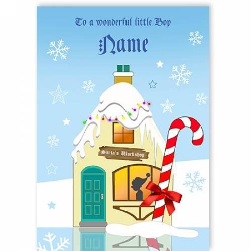 Wonderful Little Boy Christmas Card