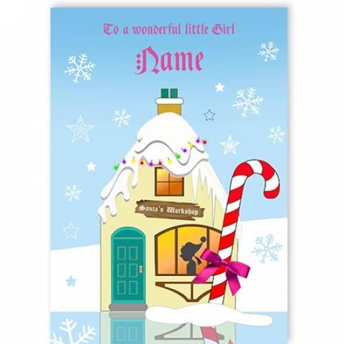 Wonderful Little Girl Christmas Card