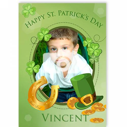 Happy St Patrick's Day Photo Card