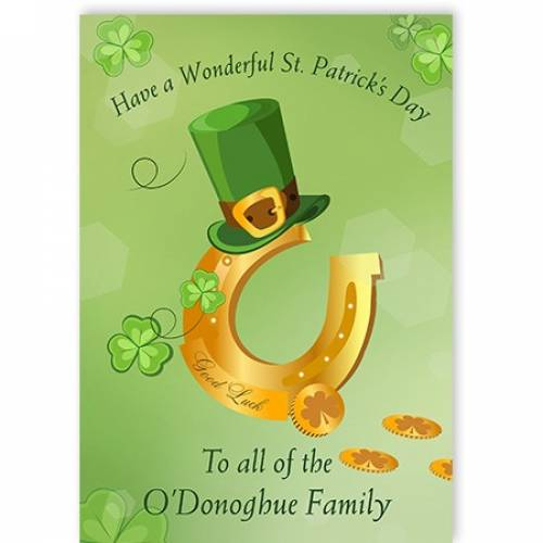 Have A Wonderful St' Patrick's Day Card