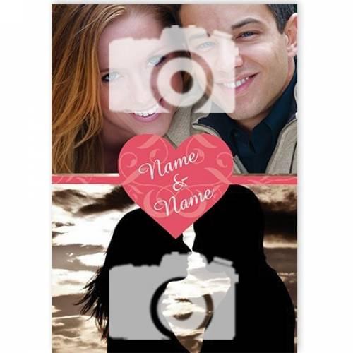 Name And Name Heart 2-photo Card