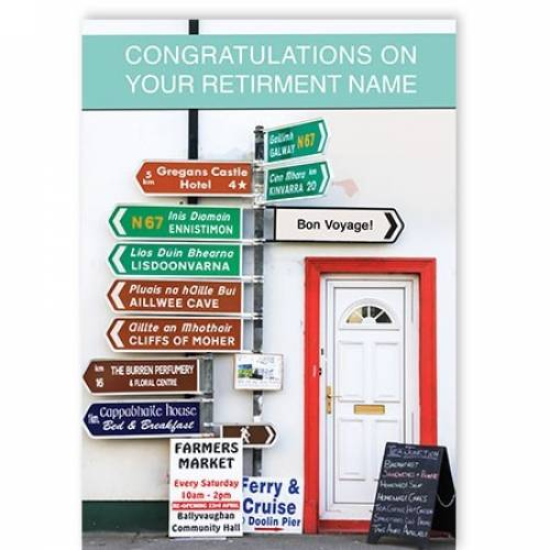 Retirement Congratulations Irish Sign Post Card