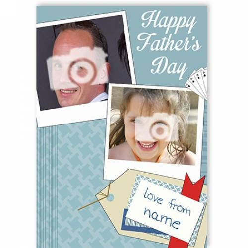 Two Photo Happy Father's Day Card