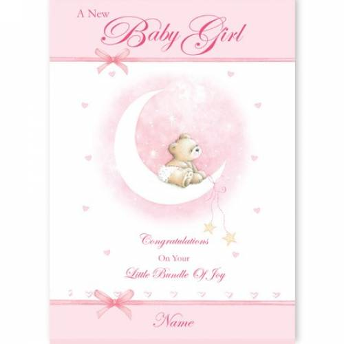 New Baby Girl Congratulations Baby Card