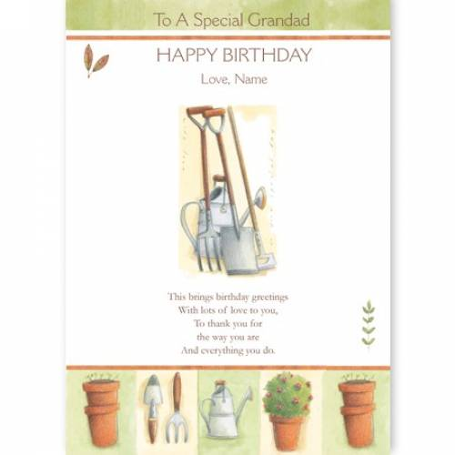 Special Grandad Garden Tools Birthday Card