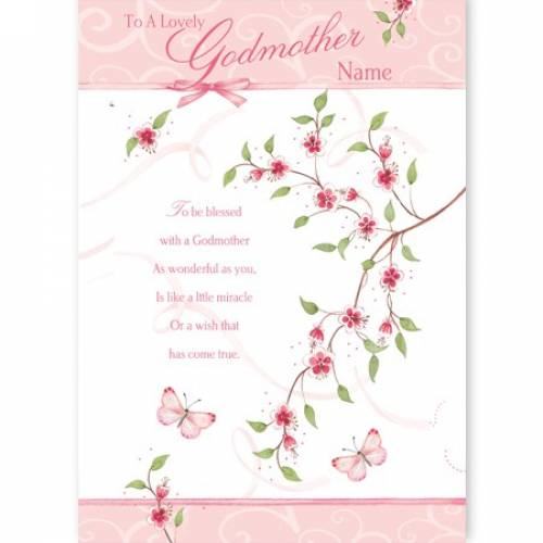 Lovely Special Godmother Card
