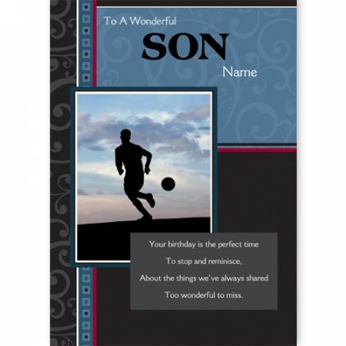 Wonderful Son Birthday Card