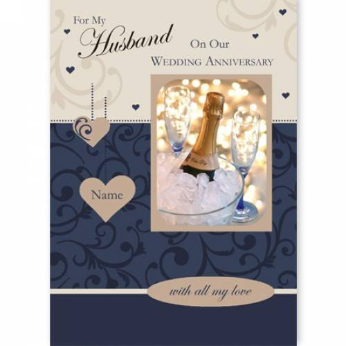 For My Husband On Our Wedding Anniversary Card